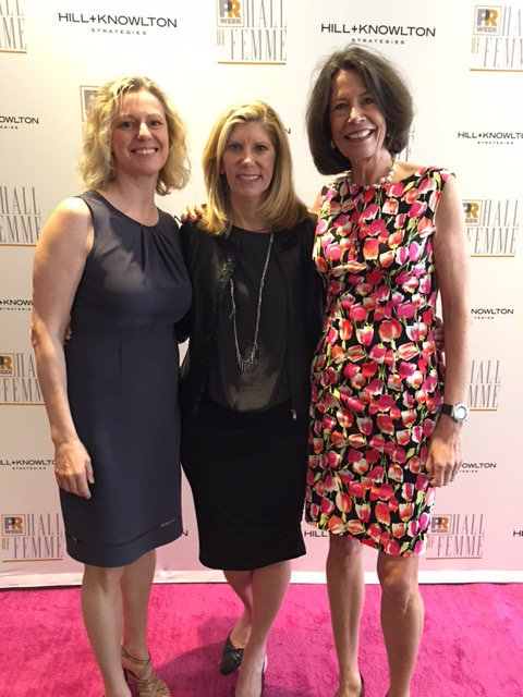 Ketchum president Barri Rafferty (center) and CEO of Omnicom Public Relations Group Karen van Bergen (right) were inducted into PRWeek's Hall of Femme. Ann Wool, President of Ketchum Sports and Entertainment, was named a Champion of PR.