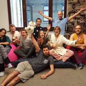 Getting ready for work was made a bit easier for our colleagues in Brussels when they had pj day in the office.