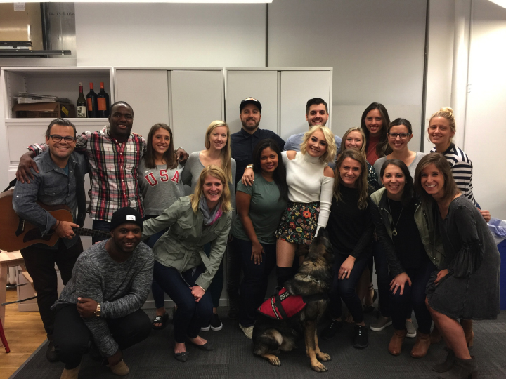 Singer-songwriter RaeLynn with our Ketchum Sports and Entertainment colleagues in New York.
