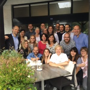 Colleagues from Brussels enjoyed a team outing.