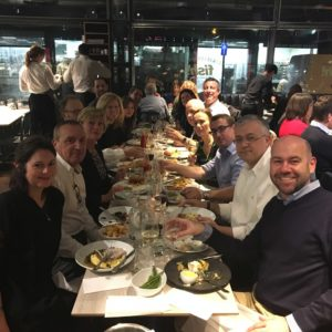 Rob Flaherty, Barri Rafferty and Ketchum Executives enjoy a team dinner.