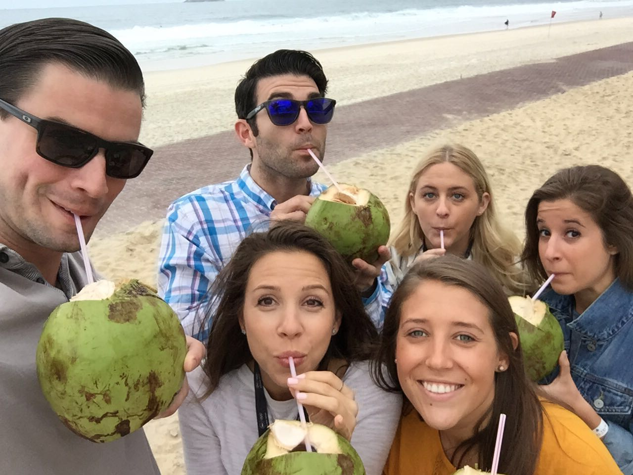Our Ketchum Sports and Entertainment team enjoyed coconuts on the beach in Rio while they were there representing clients during the 2016 Olympics.