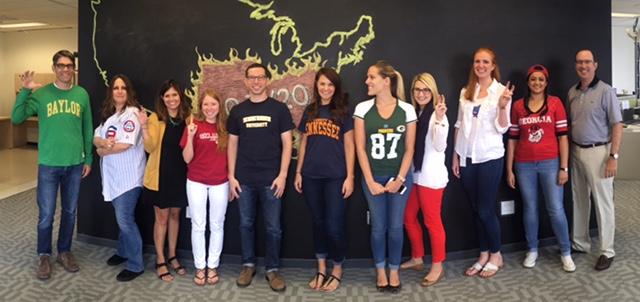 The Ketchum Dallas team showed team spirit for each other and their favorite sports teams.
