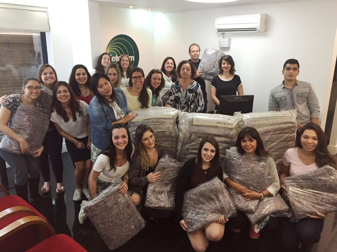 Colleagues from Brazil participated in a coat drive.