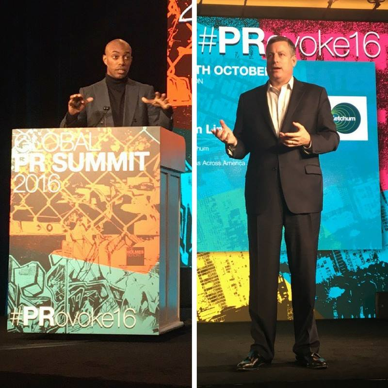 Chairman and CEO Rob Flaherty spoke at the Holmes Report's Global PR Summit with Casey Gerald to discuss the importance of leading business with a purpose.