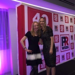 Alison Borgmeyer (right) was honored as one of this year's PRWeek 40 Under 40.