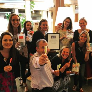 The San Francisco office held a fundraiser for Room to Read, Ketchum's pro bono partner, on National Lollipop Day.