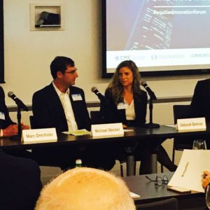 Marc Drechsler (left) participated in a panel at CommPRO.biz & Equities.com Financial Communications and Innovation Forum.