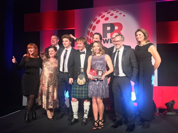 Rob Flaherty and Ketchum colleagues celebrated with Mastercard (*client) after winning the prestigious PRWeek Global 'Campaign of the Year' award.