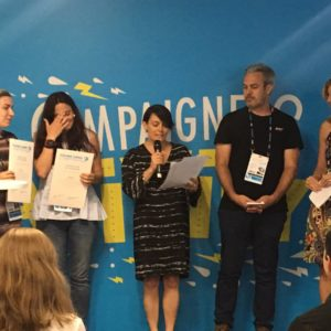Barri Rafferty presented the winners of the Cannes Young Lions Marketers Competition with their awards. Ketchum has sponsored the Young Lions Marketers Competition for six consecutive years.