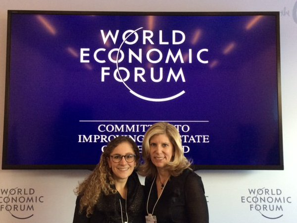 Barri Rafferty and Ketchum's World Economic Forum secondee Laura Clementi attended this year's WEF conference.