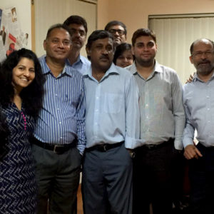 Ketchum Sampark Managing Director, N S Rajan (third from left), and colleagues celebrate Ketchum Sampark's 22nd anniversary.