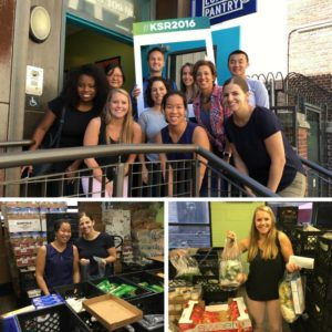 Colleagues from New York helped distribute food at the NY Common Pantry for Ketchum Social Responsibility Month.