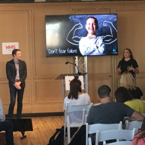 Angela Fernandez and Aaron Berger presented at the Youth Marketing Summit.