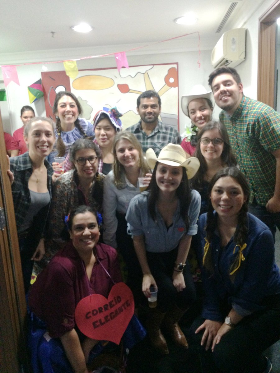 Colleagues from Brazil celebrated Festa Junina at an office party.