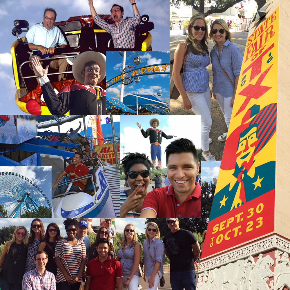 Dallas colleagues enjoyed a day out at the Texas State Fair.