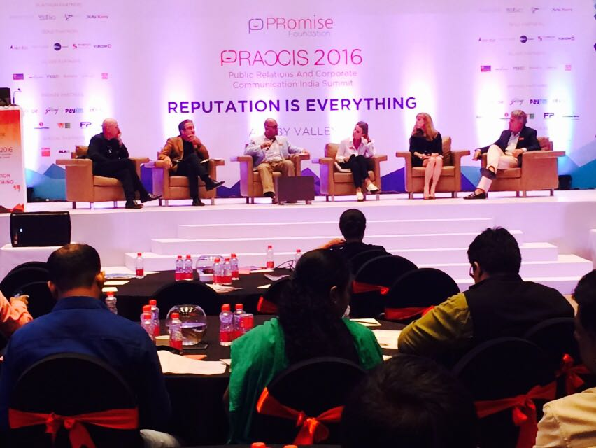 Jon Higgins shared insights on reputation management as a keynote speaker at PRaxis 2016.