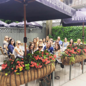 The Ketchum Canada team enjoys an outdoor summer get together.