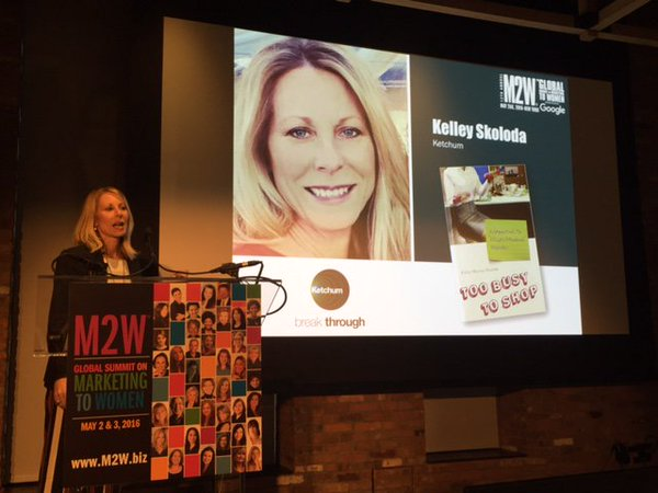 Kelley Skoloda shared our latest Marketing to Women research, and its implications for marketers, at The Marketing to Women Conference.