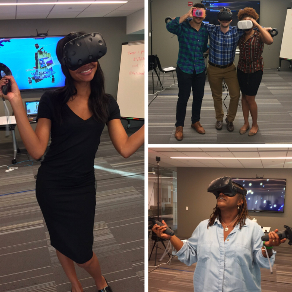 Making virtual a reality in Washington, DC, our colleagues enjoyed experimenting with the latest tech equipment.
