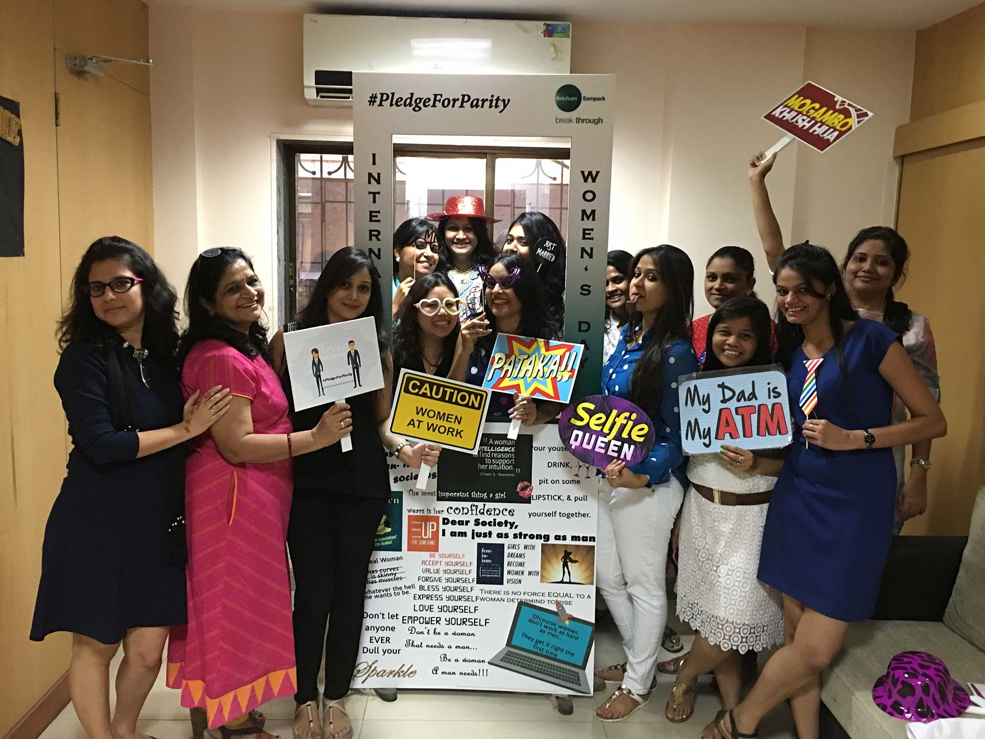 Colleagues in Mumbai celebrated International Women's Day.