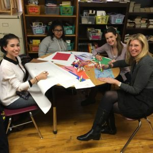 Ketchum President Barri Rafferty gets crafty at a Step Up event in Chicago. Barri sits on the executive board for Step Up, whose mission is to empower girls from under-resourced communities to become confident, college-bound and career focused.