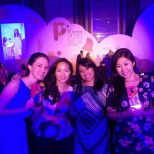 Our Singapore team brought home four awards at the 2016 Marketing Magazine PR Awards. Pictured from l to r: Rosemary Teow; Soon Lishan; Sarada Chellam; Brenda Yeo.