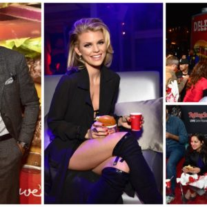Ketchum helpedWendy's(*cl) score big atRolling Stone's#SB50Big Game Bash in San Francisco, serving hamburgers to attendees.